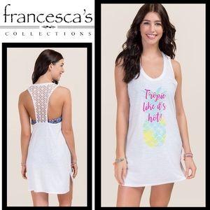 Francesca's Swim Cover-Up Dress, Size Medium